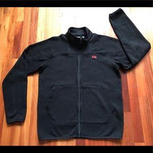 Helly Hansen Fleece Zip Up Jacket Mens Large Black